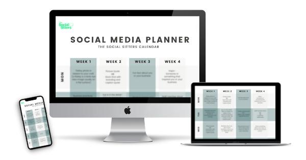 Social Media Planner post content schedule free download