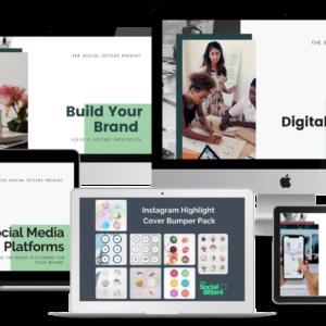 Complete kit digital marketing, social media business kit, instagram highlight cover templates, digital marketing strategy plan, Branding Guide, Social Media Platform guide, How to set up instagram page